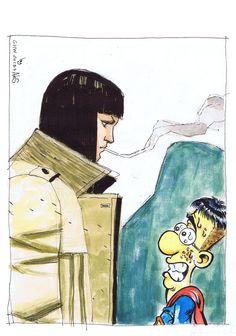 """#COMIC #ILUSTRACION #CROWDFUNDING - Gabriel Hernández Walta para ¡¡SUPERJOVEN TE NECESITA!!! by AleS SUPERJOVEN es una serie paródica creada por Rafa Amat """"AleS"""", publicada en diferentes medios impresos (revistas, periódicos y webs) entre 2004 y 2010. SUPERJOVEN, ER CÓMIC, recopilaría en papel (formato 16 x 21,5 cm) más de 120 tiras A COLOR y un conjunto de ilustraciones.  www.lascosasdeales.blogspot.com Crowdfunding verkami www.verkami.com/projects/4172"""