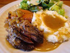 Fiddler in the (Gluten-Free) Kitchen: Cider Braised Roast Beef in the Crock Pot (4 Star)