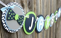 """Bow Tie Baby Shower Theme Banner - """"It's a Boy"""""""