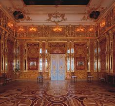 Visited 2009-Amber Room in Catherine's Palace in St. Petersburg, Russia (actually in Pushkin just outside of the city)