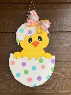 Excited to share this item from my shop: Easter decoration, Easter door hanger, Easter gift, wood sign Easter Crafts For Toddlers, Easter Crafts For Kids, Easter Gift, Easter Projects, Easter Paintings, Easter Bunny Decorations, Easter Chick, Christian Easter, Etsy Shop