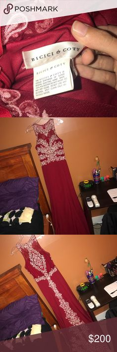 Beautiful Prom Dress Very beautiful prom dress the designer name is in the pictures!! Worn ONCE and that's it. Very good condition. bicici & coty Dresses Prom
