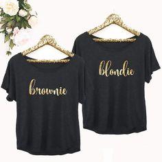 Etsy Blondie Brownie Shirts - Blondie Tshirt - Blondie and Brownie Best Friend Shirt - Affiliate