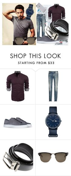 """""""Untitled #84"""" by mademoiselle-mm ❤ liked on Polyvore featuring Maison Margiela, Lacoste, HUGO, Tom Ford, Native Union, men's fashion and menswear"""