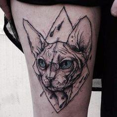 Мои закладки Sphinx Tattoo, Bastet Tattoo, Sphynx, Tatto Boys, S Tattoo, Blackwork, Tattoos For Guys, Body Art, Piercings