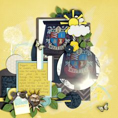 Kit: A little sunshine - Jennifer Labre Template: All about connections - Angelclaud ArtRoom Leaves from Simply me - Jenn...