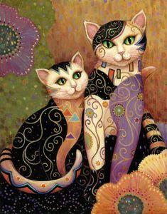 Catpainting cat illustrations, illustration art, i love cats, crazy cats,. I Love Cats, Crazy Cats, Gatos Cat, Subject Of Art, Photo Chat, Laurel Burch, Art And Illustration, Cat Illustrations, Cat Drawing
