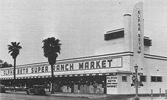 "Alpha Beta Super Ranch Market, Riverside CA, 1939. From ""The Alpha Beta Story"""