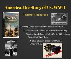 Do you use the History Channel series America the Story of Us in