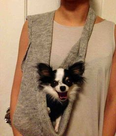 SMALL DOG SLING #SmallDog #style Heart Pup perfect in #NylonMagazine $120 www.HeartPup.com SMALL DOG CARRIER