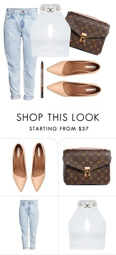 """""""Untitled #1493"""" by moria801 ❤ liked on Polyvore featuring H&M, Louis Vuitton, Miss Selfridge and Bare Escentuals"""