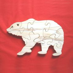 Grizzly Bear  Childrens Wood Puzzle