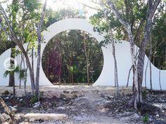 Main entrance to Holistika Tulum´s wellness center. Tulum real estate.