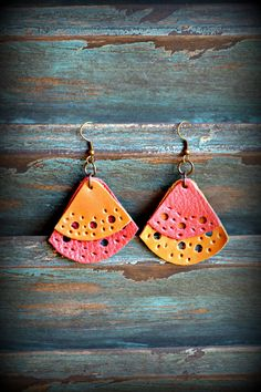 Handmade Leather Earrings from Thailand #34 · Purchase Effect · Online Store Powered by Storenvy