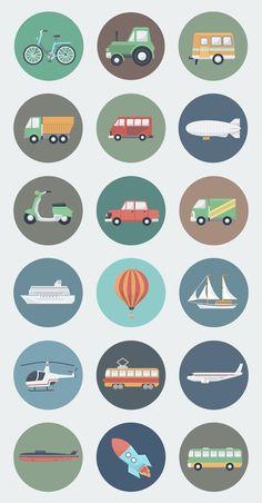 18 Transport Circle Icons im flachen Stil # vectorgraphcis… - Icon Symbol Logo Clipart - Icon Design, Flat Design Icons, Flat Icons, Portrait Illustration, Flat Illustration, Graphic Design Illustration, Logo Clipart, Graphic Design Resume, Newspaper Design