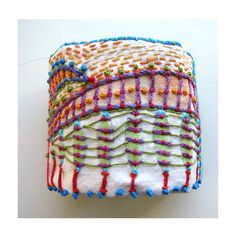 Hand Painted and Embroidered Impressionistic Colorful Cuff