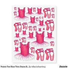 Pointe Toe Shoe Tutu Dance Ballet Ballerina Tattoo