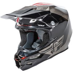 2016 Fly Racing F2 Carbon Helmet - Pure White Black Grey