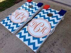 Custom Wedding Cornhole Board Sets by WGCornhole on Etsy, $225.00  www.westgeorgiacornhole.com