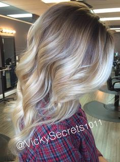 Blonde highlights color idea
