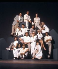 Melrose Place (Fox) (Season 6, 1997-98)  Shown from left: (top) Rob Estes (as Kyle McBride), Andrew Shue (