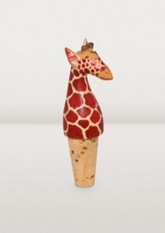 Keep your wine or olive oil fresh and put money in the hands of Nairobi artisans by purchasing this hand-carved and painted Corky Giraffe Bottle Topper. Giraffe, Hand Carved, Artisan, Carving, Bottle, Nairobi, Cheetah, Painting, Animals