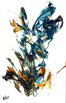 Abstract EXPressionism Painting Series 611.102310-NEW by Kris Haas