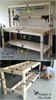 We built this over the weekend and it came out great. much bigger than expected but very sturdy. Glad we found this.http://www.familyhandyman.com/workshop/workbench/how-to-build-a-workbench-super-simple-50-bench/view-all