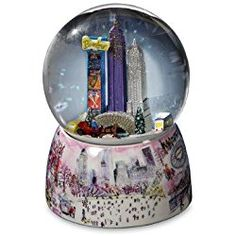 THE SAN FRANCISCO MUSIC BOX COMPANY Storrings NYC Central Park Rotating Water Globe