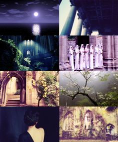 Places in Valinor: The Halls of Nienna    Nienna, sister of the Fëanturi, dwells alone.   Her halls are west of West, upon the borders of the world; and she comes seldom to the city of Valimar where all is glad. She goes rather to the halls of Mandos, which are near to her own; and all those who wait in Mandos cry to her, for she brings strength to the spirit and turns sorrow to wisdom. The windows of her house look outward from the walls of the world.