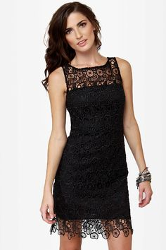 BB Dakota Morrow Dress - Lace Dress - Little Black Dress - LBD - $90.00 | I find this super adorable.