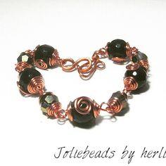 Black agathe bracelet