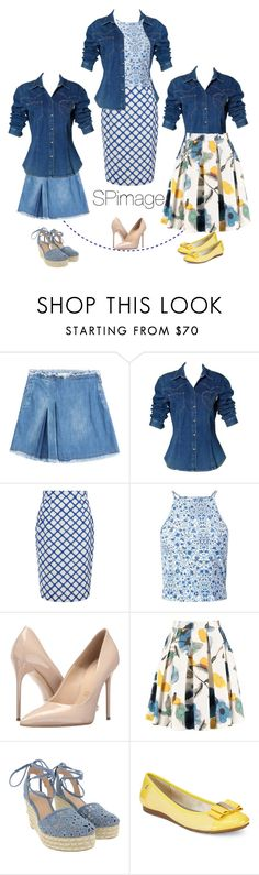 """How to wear a Denim Shirt"" by sp-image ❤ liked on Polyvore featuring See by Chloé, Moschino, Jonathan Saunders, Miss Selfridge, Massimo Matteo, Michael Kors and Anne Klein"