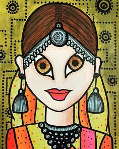Indian Artwork, Indian Folk Art, Indian Art Paintings, Pencil Art Drawings, Art Sketches, Coaster Crafts, Art Diary, Mural Ideas, Buisness