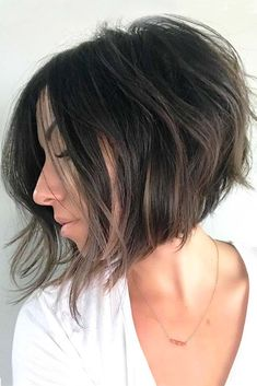 An inverted bob, also known as a graduated bob, is peculiar with its longer front and shorter back – a haircut that has been in for a while already. Such haircuts can be short, medium, and longer. And we created a photo gallery where you can see how to rock a graduated bob. #haircuts #bobhaircuts #shorthaircuts