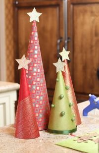 DIY Wrapping Paper Trees | Lilyshop Blog by Jessie Jane