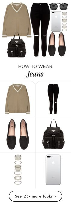 """""""#14701"""" by vany-alvarado on Polyvore featuring Prada, New Look and Forever 21"""