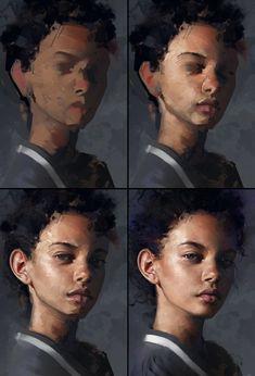 Marina Nery Study - Process by AaronGriffinArt on DeviantArt
