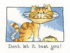 Don't Let it Beat You - Cat's Rule Cross Stitch