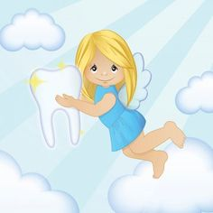Illustration about Adorable cartoon illustration of a magic tooth fairy flying in the sky. Illustration of cover, characters, card - 69558133 Cuento Pop Up, Dental Assistant, Tooth Fairy, Dentistry, Fairy Tales, Disney Characters, Fictional Characters, Cartoon, Disney Princess