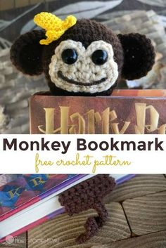 Crochet Gift Idea If you've got a monkey lover in your life, this free monkey bookmark pattern is for you! via - If you've got a monkey lover in your life, this free monkey bookmark pattern is for you! Crochet Bookmarks, Crochet Books, Crochet Gifts, Free Crochet, Crochet Bookmark Patterns Free, Free Pattern, Crochet Socks Pattern, Crochet Patterns Amigurumi, Amigurumi Toys