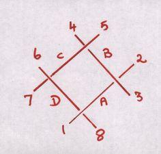 Kutch Work Tutorial: Lesson I Part I: The Basic Diamond : Skeleton