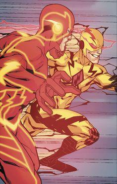 Flash vs Reverse-Flash by Neil Googe