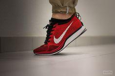 #Nike Flyknit Racer - Red/Black