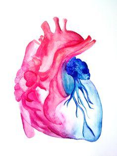 corazon de acuarela - Buscar con Google