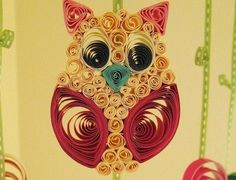 Owl Mobile  Nursery Mobile  Flower Mobile  Cradle by tsipouritsa, $183.00