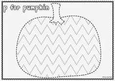 Pumpkin Big Shape Tracing freebie