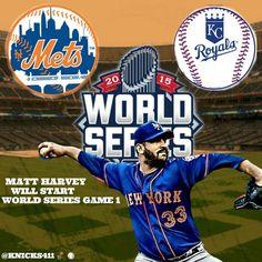 """@KNICKS411 KNICKS ALL DAY INFO / NEW YORK SPORTS TEAMS INFO The New York Mets set World series rotation Matt Harvey will start World series game 1…"""