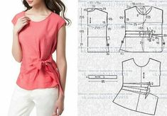 Amazing Sewing Patterns Clone Your Clothes Ideas. Enchanting Sewing Patterns Clone Your Clothes Ideas. Dress Sewing Patterns, Blouse Patterns, Clothing Patterns, Blouse Designs, Make Your Own Clothes, Diy Clothes, Costura Fashion, Sewing Blouses, Fashion Sewing