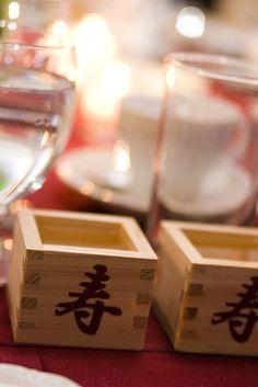 wooden sake cups